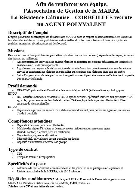 offre emploi marpa